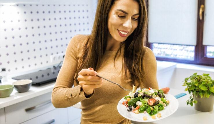 Salata cu naut si branza feta